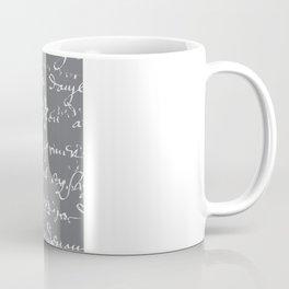 French Script on Steel Gray Coffee Mug