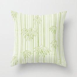 Bamboo Ornament Throw Pillow