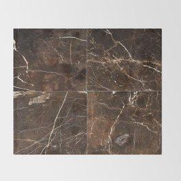 Brown Granite Squares Throw Blanket