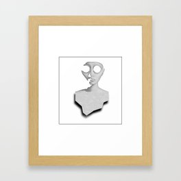 Cut Out Our Eyes Framed Art Print