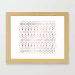 Gold Cubes Framed Art Print