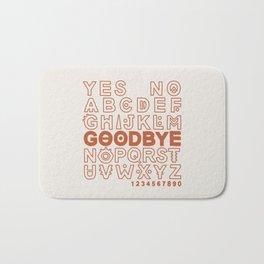 Plastic Bag Ouija Board Bath Mat