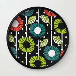 Night bloomers Wall Clock