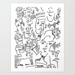ten faced Art Print