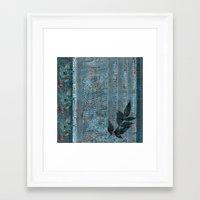 leaf Framed Art Prints featuring Leaf by dominiquelandau