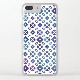 Broken Geometry 3 Clear iPhone Case