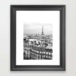 Paris Rooftops and the Eiffel Tower Framed Art Print
