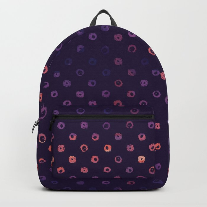 Abstract Gradient Circles on Purple Background Backpack