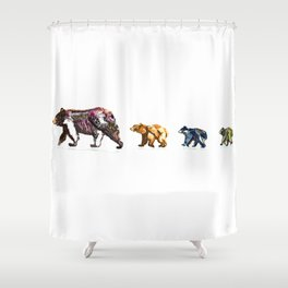 Lake Tahoe Bears in Color (4) Shower Curtain