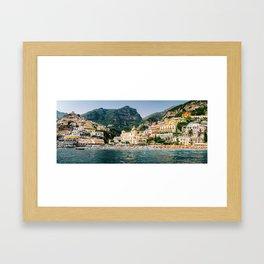 Positano Panorama Framed Art Print
