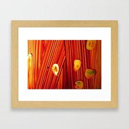Six Thumb Prints Framed Art Print