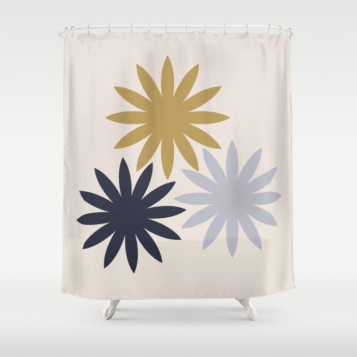 Three Flowers Shower Curtain