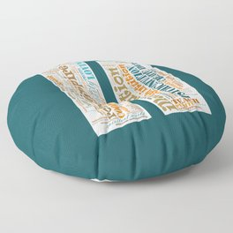 Life Path 11 (color background) Floor Pillow