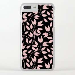 Elegant Rose Gold Leaves One Day or Day One, you decide typography Clear iPhone Case