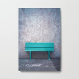 Green Bench Metal Print