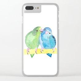 Watercolour Linnie Love Clear iPhone Case