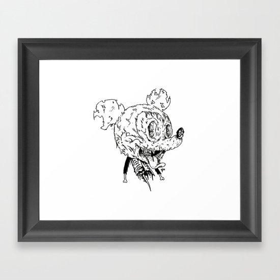 Zombie Mickey Framed Art Print