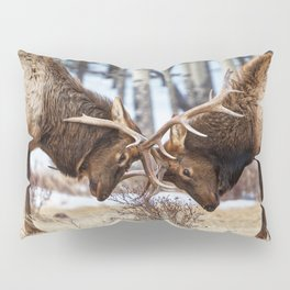 Elk In Rut Colorado Wildlife Rocky National Park Pillow Sham
