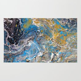 Mineralogy - Abstract Flow Acrylic Rug