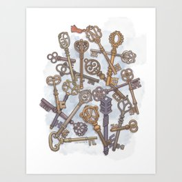 Unlocking Secrets Art Print