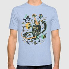 Little Black Magic Rabbit Mens Fitted Tee Tri-Blue MEDIUM