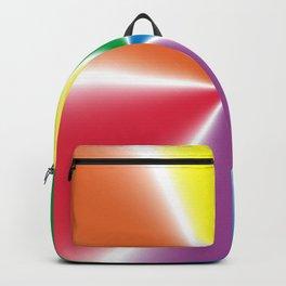 Rainbow Gradient Wheel Backpack