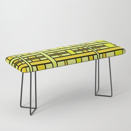 Yellow grid Bench