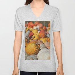 Colorful Fall Pumpkins Unisex V-Neck