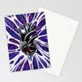 """Metaphysical Ventricles"" multimedia painting by Blake Lavergne Stationery Cards"