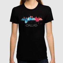 Dallas Cityscape Watercolor T-shirt