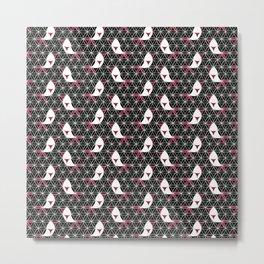 Birds Pattern Flower of Life Metal Print