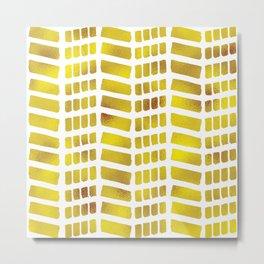 Gold bricks Metal Print