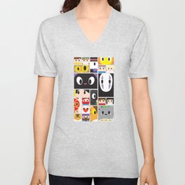 World of Ghibli Blocks Unisex V-Neck