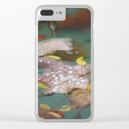 Maple Leaves in the Rain Clear iPhone Case