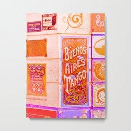 Tango Buenos Aires, Argentina. Metal Print