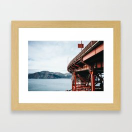 The other side of Golden Gate Framed Art Print