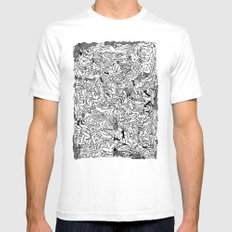 Lots of Bodies Doodle in Black and White SMALL White Mens Fitted Tee