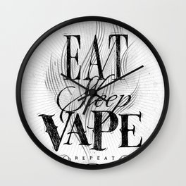 Poster eat sleep vape Wall Clock