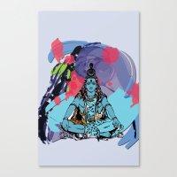 shiva Canvas Prints featuring Shiva by SACreativeTO
