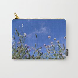 Field of blooming wildflowers on a beautiful summer day Carry-All Pouch