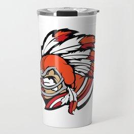 American indian man. Mascot. Kentucky. Travel Mug