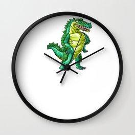 Crocodile Mom Alligator Reptile Animal Wall Clock