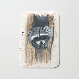 Tree Bandit - raccoon, animal, nature, wildlife Bath Mat