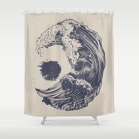tree Shower Curtains featuring Swell by Huebucket