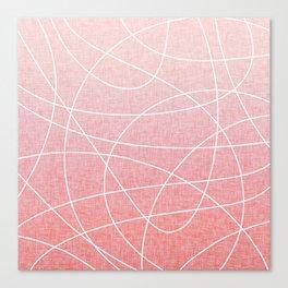Scribble Linen - Blush Pink Canvas Print