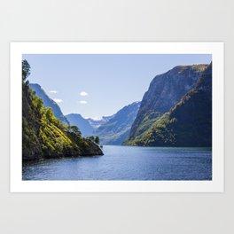 Narrow Fjord Art Print