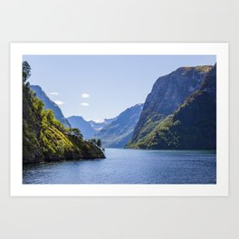 Narrow Fjord Art Print
