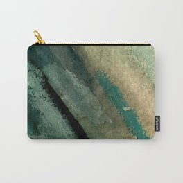 Green Thumb - an abstract mixed media piece in greens and blues Carry-All Pouch