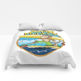 Surfing Monkey Comforters
