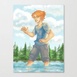 Kyran in Woods 2 Canvas Print